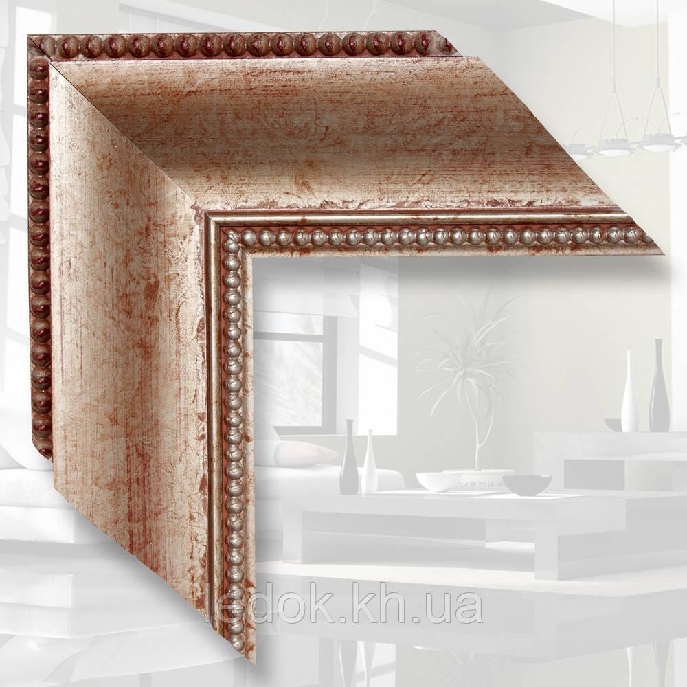 Зеркало в деревянном багете 9.9см 1200х600