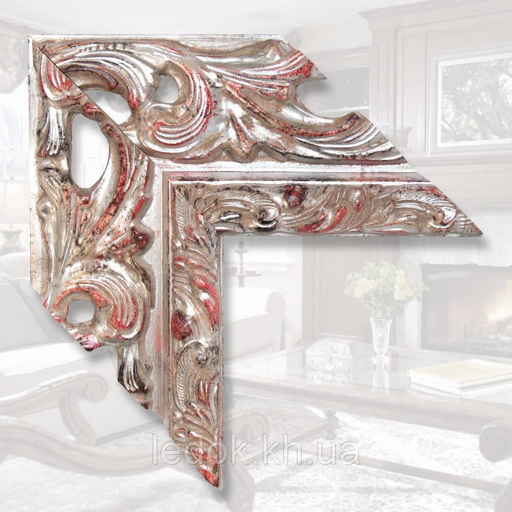Зеркало в деревянной раме шириной 146мм 1600х800