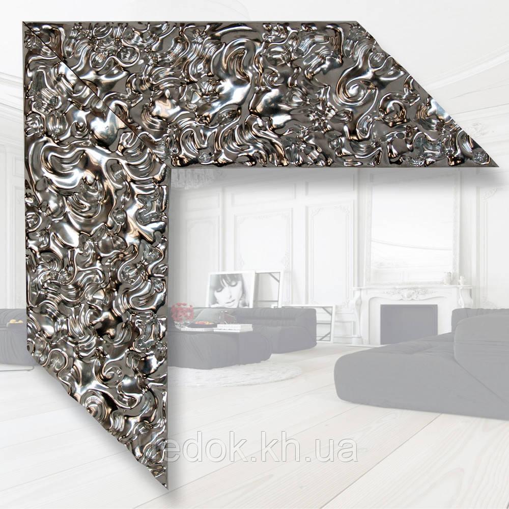 Зеркало в деревянном багете 79мм 1200х600