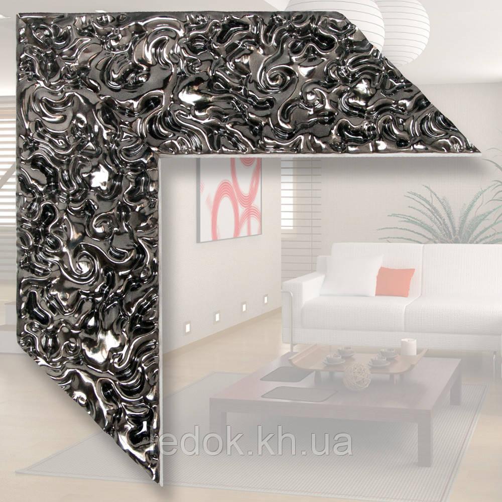 Зеркало в деревянном багете 79мм 1200х600, Дерево