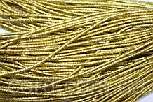 Резинка шляпная, круглая 2,5мм 50м золото