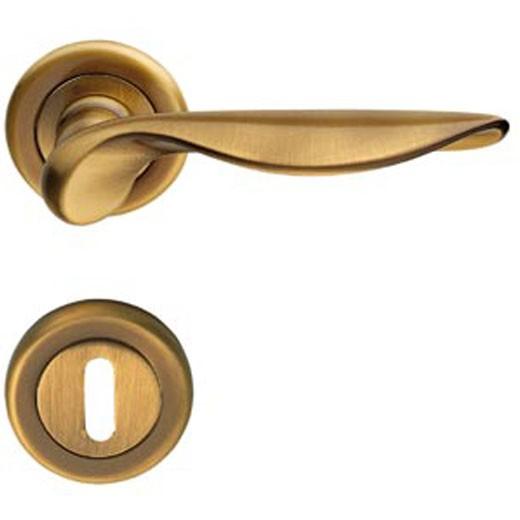 Итальянская дверная ручка Almar  LINA бронза патина