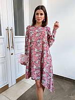 Стильное женское платье ассиметрия