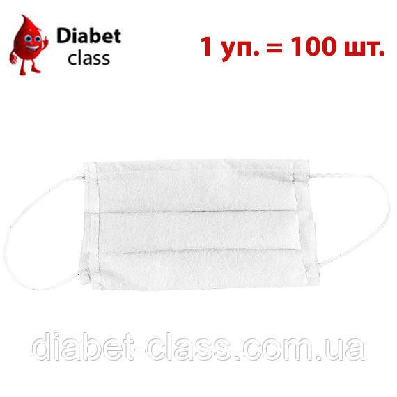 Защитная маска для лица белая 100 штук