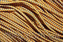 Резинка шляпная, круглая 2,5мм 50м желтый + синий