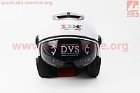 Шлем мото скутер мопед (IBK) Шлем открытый + откидные очки 605 - БЕЛЫЙ- размер М