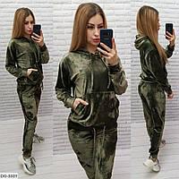 Стильный женский спортивный костюм королевский велюр арт 60