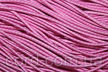 Резинка шляпная, круглая 2,5мм 50м розовый + белый