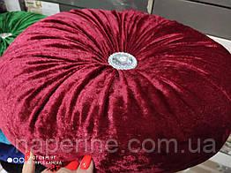 Декоративная подушка в восточном стиле бордовая