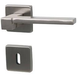 Итальянская дверная ручка латунь LOUISIANA, матовый никель
