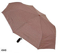 Зонт женский полуавтомат,бордовый в полоску, фото 1