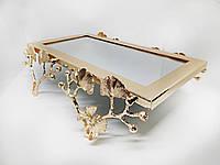 Стійка для торта MCA Vizyon з мельхіору з позолотою прямокутна, фото 1