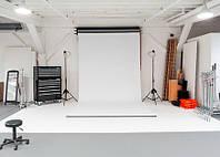 Фон 1,6x4 м белый матовый студийный виниловый