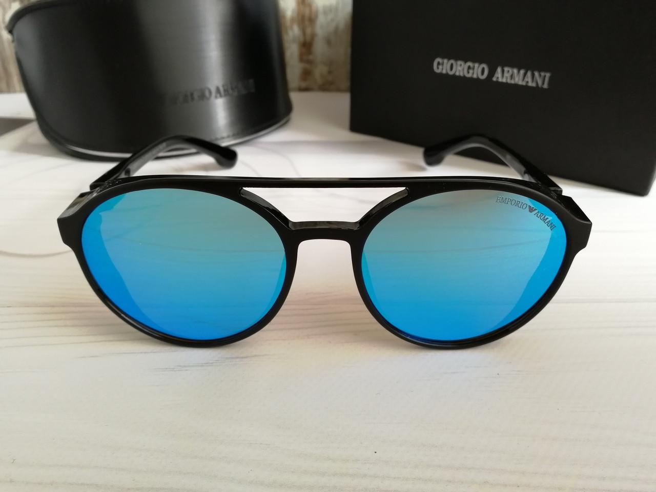Брендовые солнцезащитные очки с поляризацией Emporio Armani (унисекс)