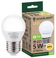 Лампа светодиодная ENERLIGHT G45 5Вт 3000K E27