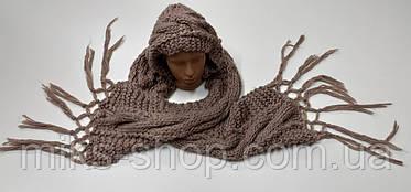 Вязаный шарф - шапка, фото 2