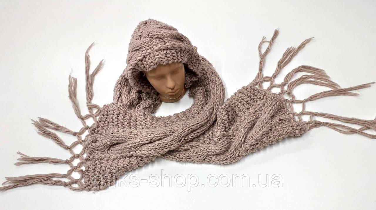 Вязаный шарф - шапка