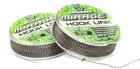 Поводочный материал Kosadaka Mirage Hook Link 25м, 25lb/11,34кг коричневый/черный