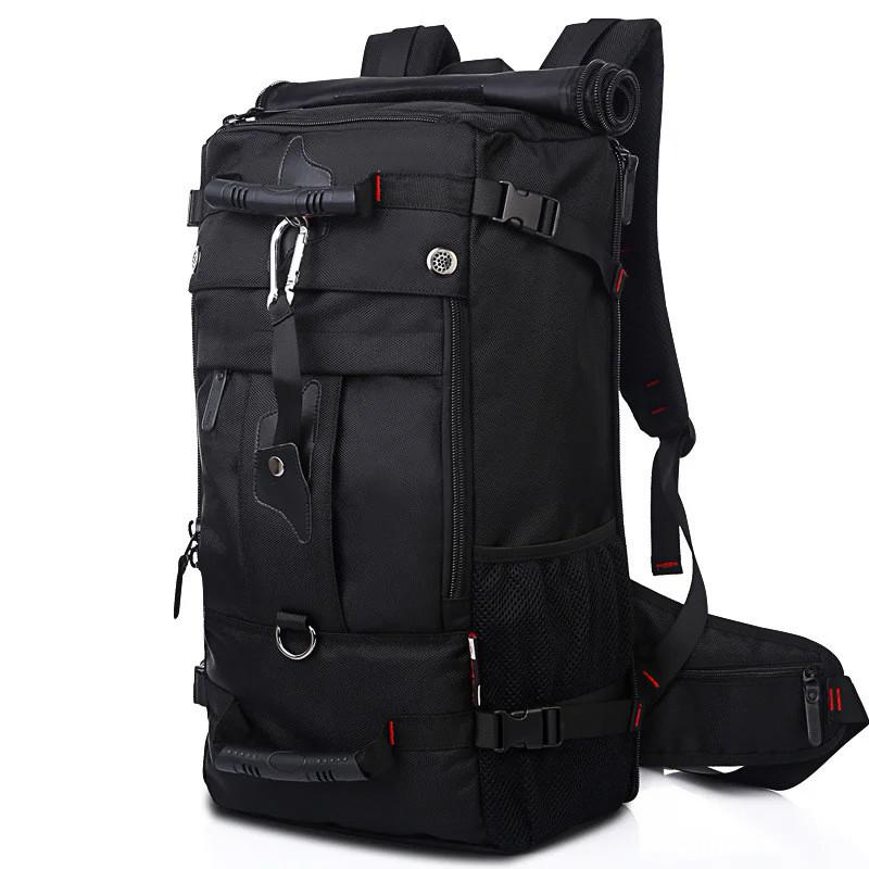 Рюкзак-сумка дорожная для путешествий KAKA 2070 D 50L Black многофункциональный походный с кодовым замком