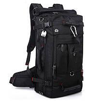 Рюкзак-сумка дорожная для путешествий KAKA 2070 D 50L Black многофункциональный походный с кодовым замком, фото 2