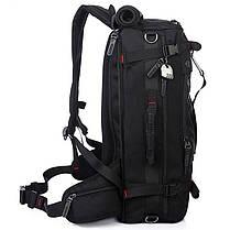 Рюкзак-сумка дорожная для путешествий KAKA 2070 D 50L Black многофункциональный походный с кодовым замком, фото 3