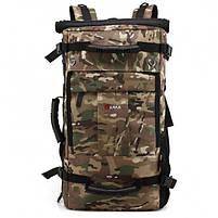 Рюкзак-сумка дорожная для путешествий KAKA 2050 D Camouflage туристический кодовый замок 40л трансформер, фото 2