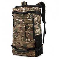 Рюкзак-сумка дорожная для путешествий KAKA 2050 D Camouflage туристический кодовый замок 40л трансформер, фото 4
