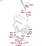 Сальник коленвала задний киа 1.4-1.6mpi 108x76x8mm, 214432b020, фото 4