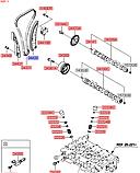 Башмак натяжителя цепи ГРМ киа 1.6mpi, KIA, 244202b000, фото 3
