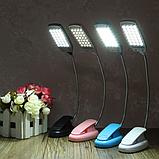 Портативний світильник-лампа з кліпсою 28 LED рожевий, фото 3