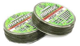 Поводковый материал Kosadaka Mirage в оболочке 25м, 20lb/9,09кг зеленый/черный
