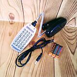 Портативный светильник-лампа с клипсой 28 LED черный, фото 3
