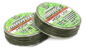 Поводковый материал Kosadaka Mirage в оболочке 25м, 25lb/11,34кг зеленый/черный