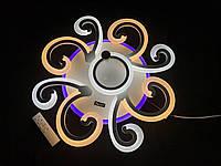 Світлодіодна люстра 4+1 з диммерним пультом біла 90 вт, фото 1
