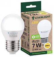 Лампа світлодіодна ENERLIGHT G45 7Вт 3000K E27