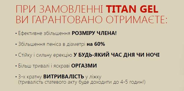 Titan Gel (Титан Гель) для збільшення члена