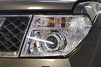 "Nissan Pathfinder - установка биксеноновых линз KOITO G6/Q5 3,0"" D2S"