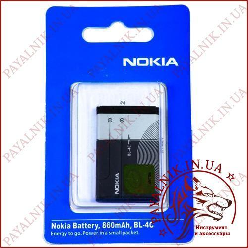 Аккумуляторная батарея (АКБ) Nokia BL-4C (High copy)