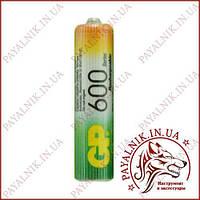 Аккумулятор GP Ni-MH AAA HR03 1.2V 600mAh (1шт.)