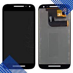 Дисплей Motorola XT1540 Moto G3 XT1541, XT1544, XT1548, XT1550 с тачскрином в сборе, цвет черный