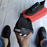 Мужские кеды Guess OS018 черные, фото 5