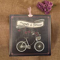 Приглашения с велосипедом в ретро стиле (арт. 41450), фото 1