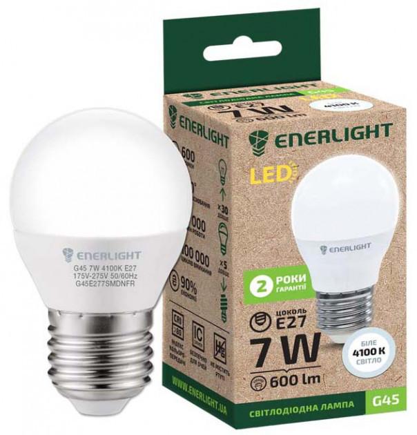 Лампа светодиодная ENERLIGHT G45 7Вт 4100K E27