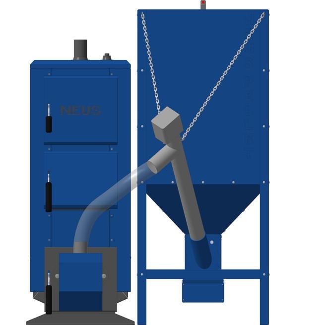 Котлы длительного горения с автоматической подачей топлива  НЕУС-ПЕЛЛЕТ 19 кВт
