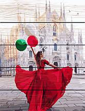 Картина по номерам по дереву Миланский собор