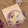 Круглые цветочные приглашения (арт. 41452)