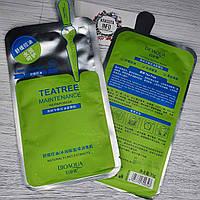 Маска тканевая для лица от высыпаний Teatree maintenance repair mask, Bioaqua, 30 ml