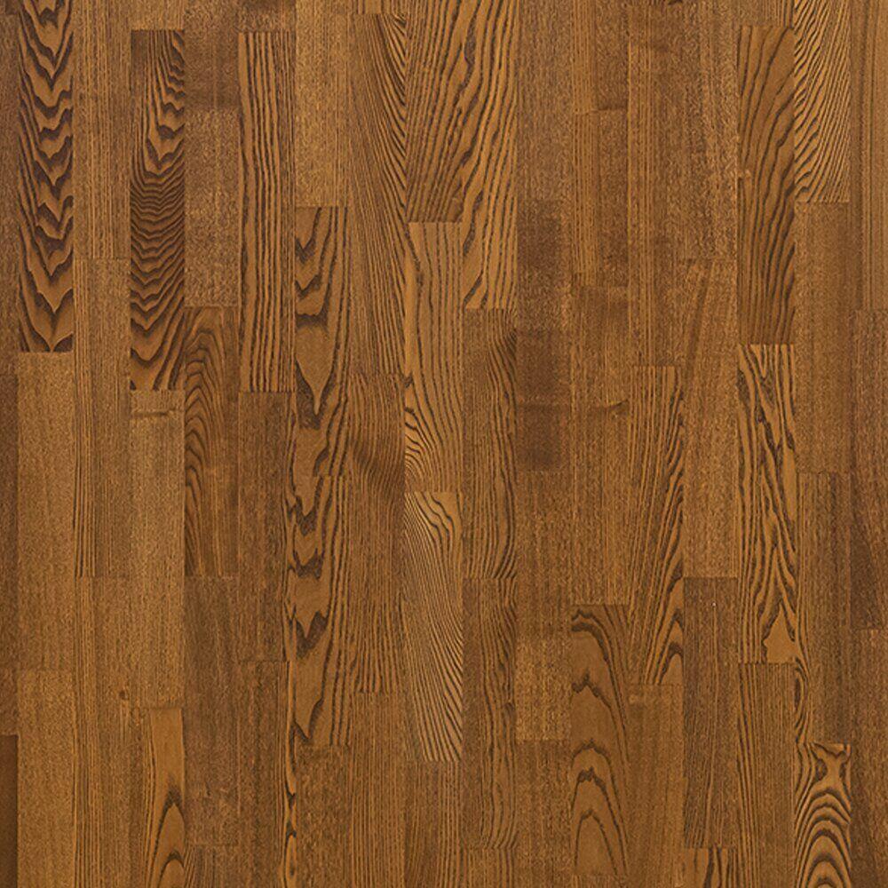 Паркет Polarwood Ясень WHISKY MATT, кантри, легкий браш, темно-коричневый, матовый лак