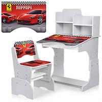 Детская парта-трансформер Ferrari со стульчиком W 2071-63-5 белая