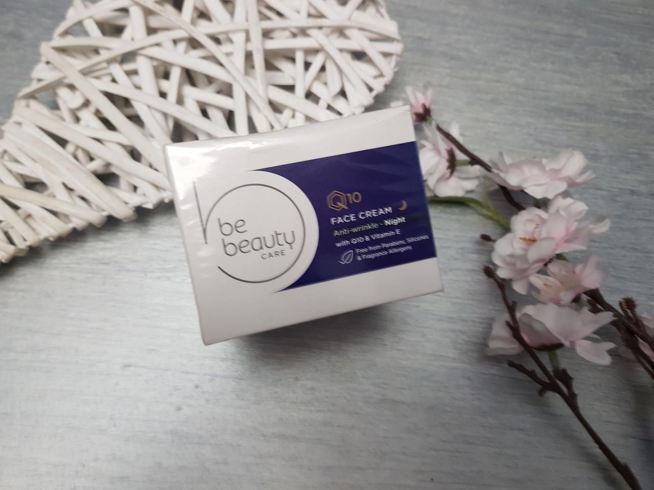 Восстанавливающий ночной крем против морщин  Be Beauty care Q10 Витамин Е  50 мл